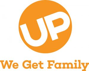 UP We Get Family Logo